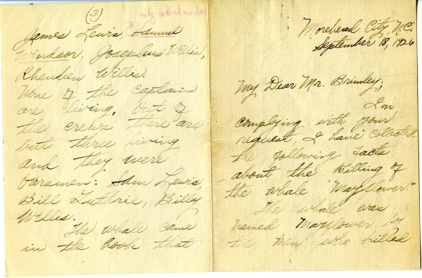 page from a handwritten letter