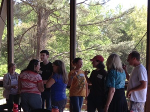 FrogWatch participants doing an icebreaker activity