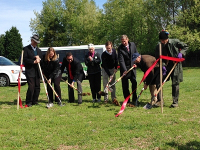 Groundbreaking of the new chimney swift tower