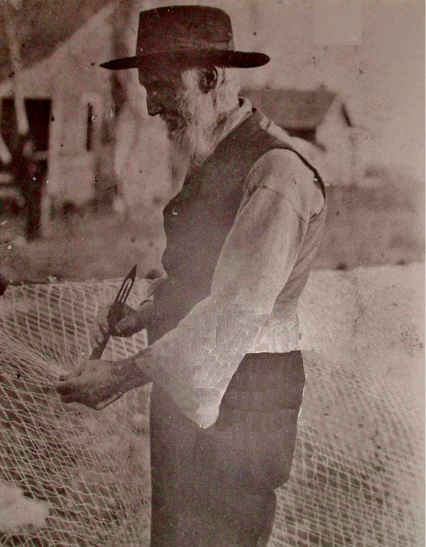 Josephus Willis, lived 1830 to 1881, fisherman of Diamond City, NC. (Photo used with permission from the Carteret County Historical Society)