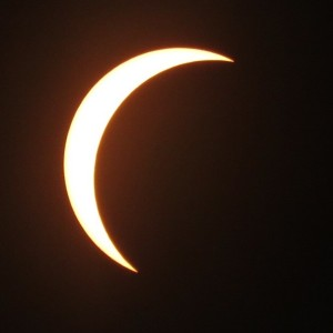 partial eclipse as seen in Raleigh